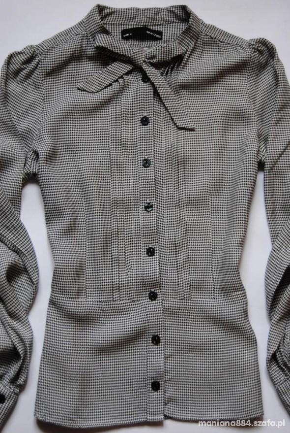 Koszule Koszula z Kokardką W Pepitkę