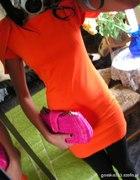 pomarńczowa sukienka s lub xs