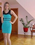 Sukienka bandażowa miętowa