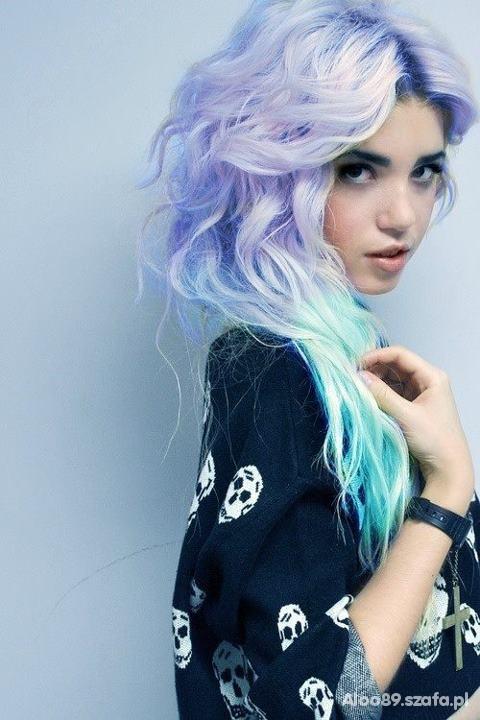 Pastelove włosy