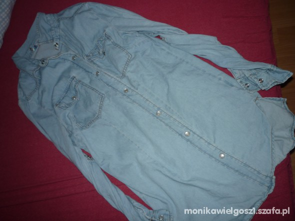 jeansowa jasna koszula