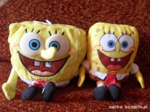 Zabawki dwie maskotki spongebob