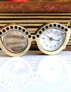 Naszyjnik zegarek okulary NERD w Japan Style