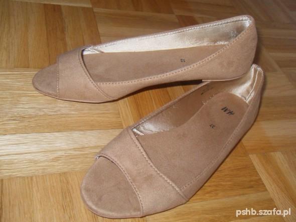 balerinki open toe H&M