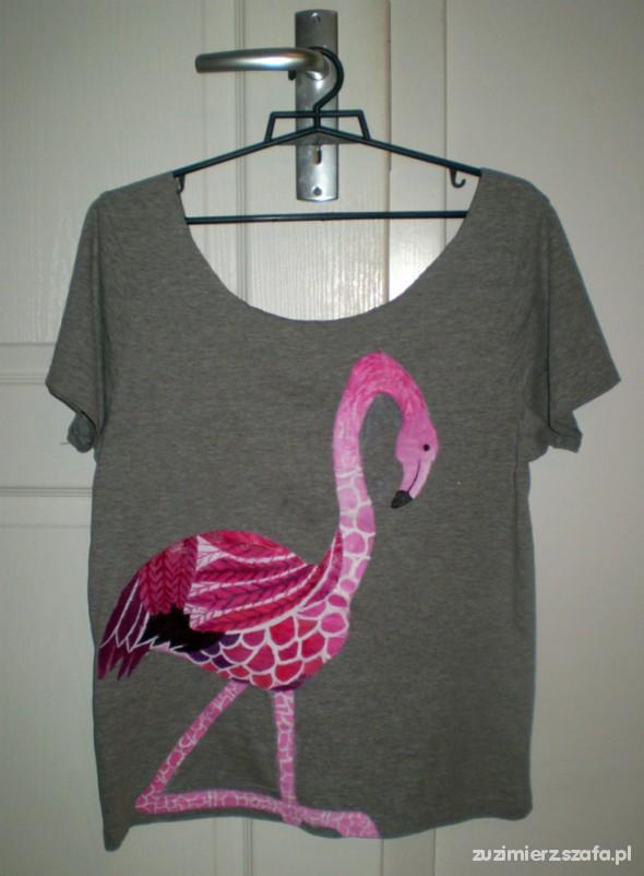 flamingowa koszulka oversize diy