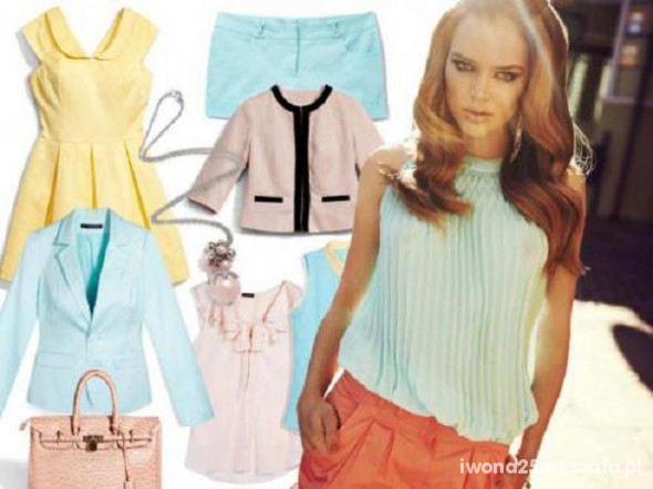 Eleganckie Pastelowe ubrania w kolekcji Mohito 2012