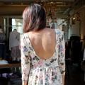 Topshop Vintage Style Floral Skater Dress