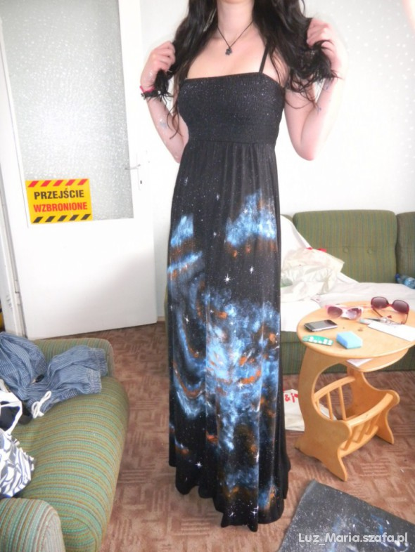 Mój styl Galaxy maxi dress