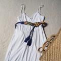 biała sukienka M bershka