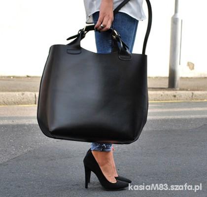 cbfeff141b040 Shopper Bag XXL duża i sztywna jak zara w Torebki na co dzień - Szafa.pl