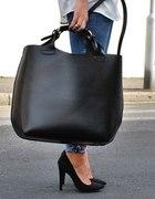 Shopper Bag XXL duża i sztywna jak zara