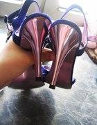 fioletowe sandałki 36