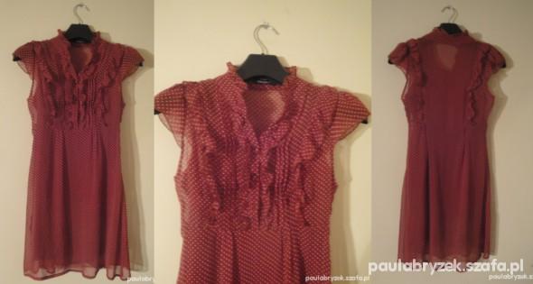 Suknie i sukienki ruga w groszki mgiełka