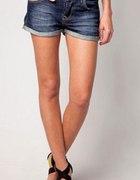 BERSHKA szorty spodenki jeansowe