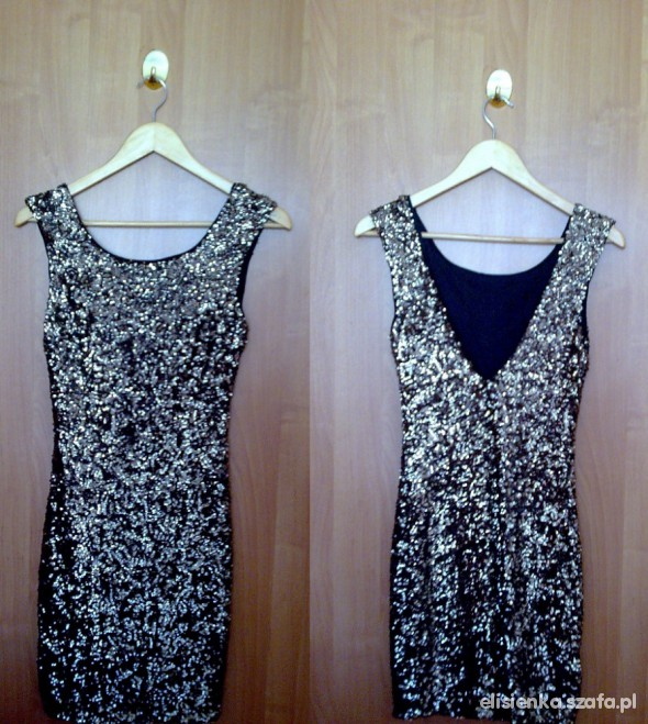 Suknie i sukienki Cekinowa sukienka Zara 34