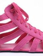 Różowe Wiązane Rzymianki Pink...