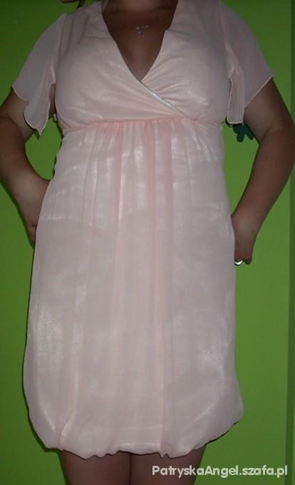 Suknie i sukienki łososiowa mgiełka sukienka na każdą okazję