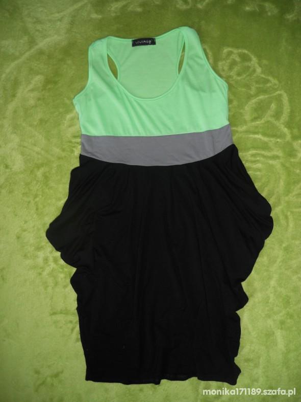 Suknie i sukienki nowa sukienka tunika tulipan neonowa 36 na 38