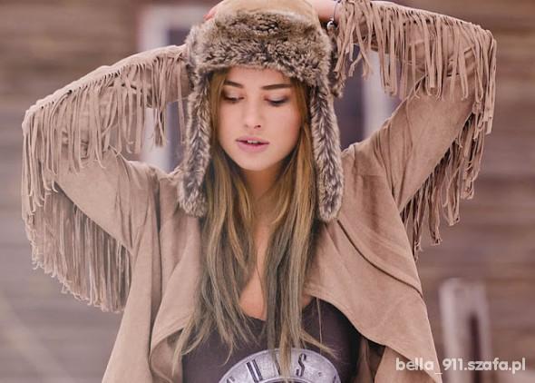Bershka Ramoneska Frędzle Fringe Jacket