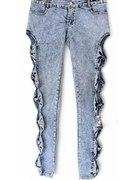 jeansy Japan style kokardki z kokardkami