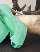 miętowe buciki