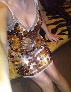 Sukienka rybia łuska cekiny