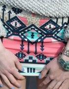 BERSHKA Spódnica AZTEC Pastele azteckie wzory