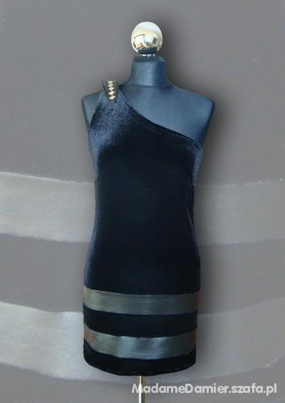 Mój styl Sukienka na jedno ramię