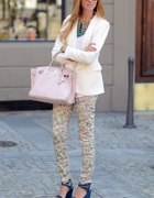 white and floral...