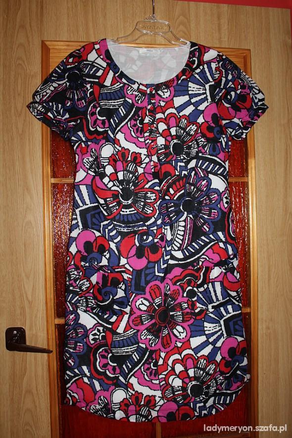 Suknie i sukienki letnia kwiecista sukienka MARKS&SPENCER r 38