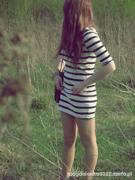 Suknie i sukienki tunika sukienka w paski Hit lata