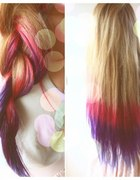 moje rainbow hair