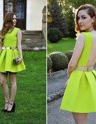 sukienka asos aqua bez pleców rozkloszowana