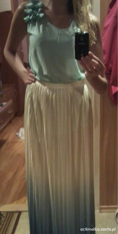 Mój styl PASTELE maxi dress cieniowana i mięta