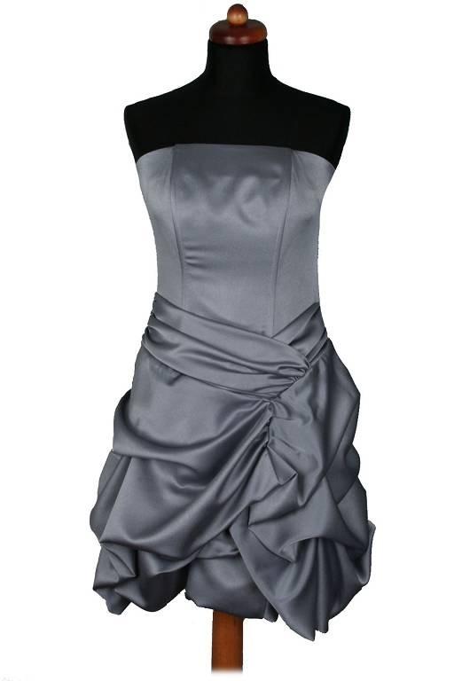76acf4e12b Piękna sukienka de facto srebrna w Suknie i sukienki - Szafa.pl
