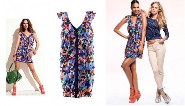Sukienka floral H&M S