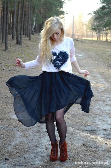 Imprezowe hight low skirt