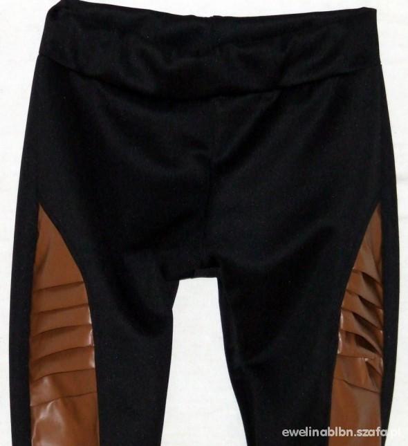 Świetne legginsy ze skórą L
