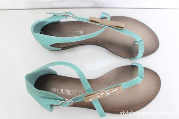 Sandały miętowe nowe sandały 36 37 38 39 40 41