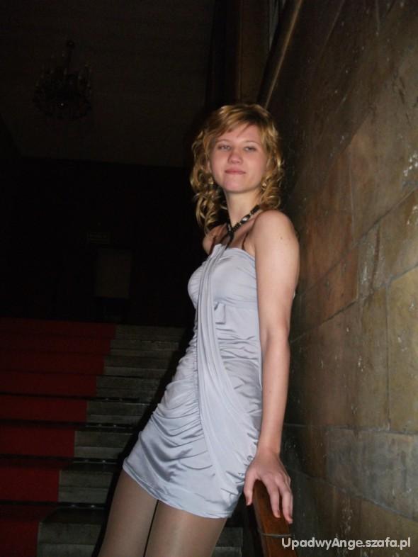 Eleganckie Szara sukienka