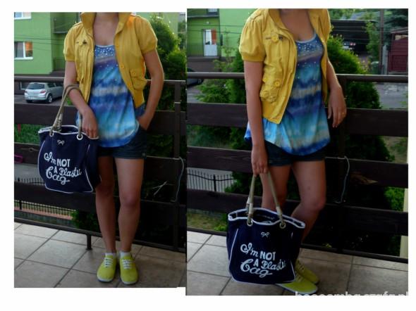 Mój styl chodź pomaluj mój świat na żółto i na niebiesko