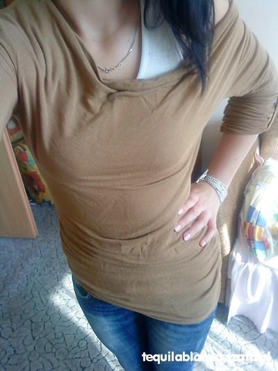 tunika bluzka nietoperz beżowa lub brąz rozmiar s