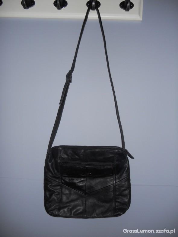 66f27b0d53eb4 LORENZ accessories SKÓRZANA czarna torba w Torebki na co dzień ...