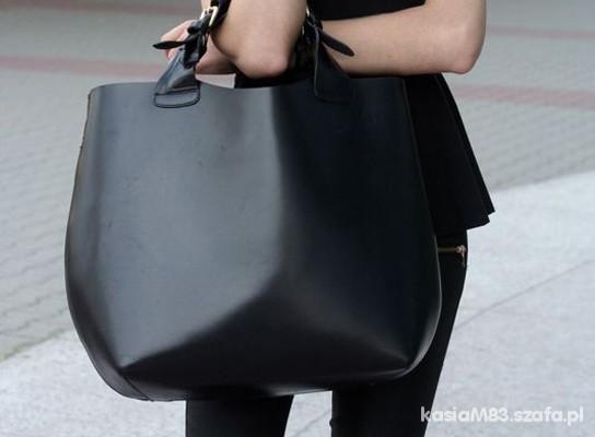 OKAZJA shopper bag XXL jak ZARA duża i sztywna
