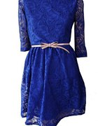Chabrowa sukienka pokryta KORONKA L