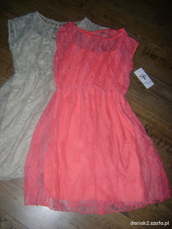 113a2f6c26 NOWA koronkowa koralowa sukienka wysyłka 0zł w Suknie i sukienki ...