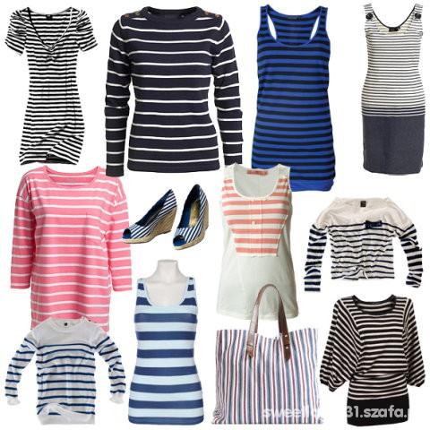 marine styl paski marynarskie bluzeczki 34 36