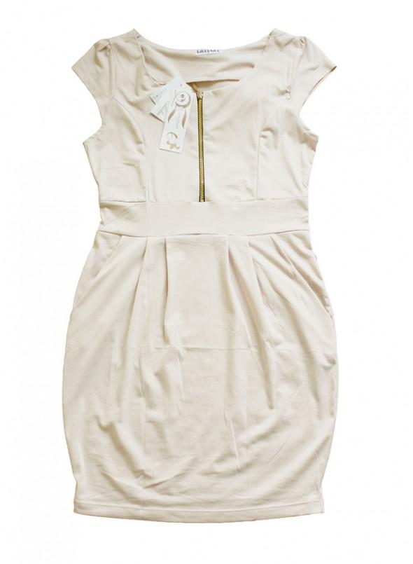 Suknie i sukienki NOWA sukienka tulipan nude zip