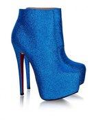 Ashley4 Blue Glitter Bootie 41