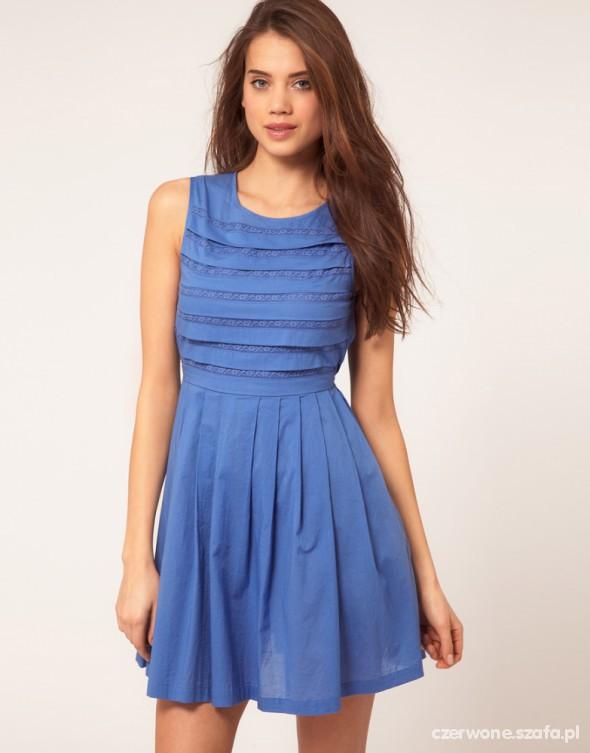 Suknie i sukienki ASOS NOWA NIEBIESKA SUKIENKA NA LATO